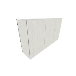 00wwk sideboard 3 doors natural finish sawn oak white lacquer Ligne Roset Et Cetera