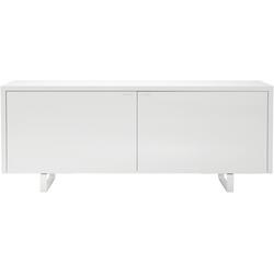 00hr9 sideboard 2 doors chromed base et handles white lacquer Ligne Roset Coplan