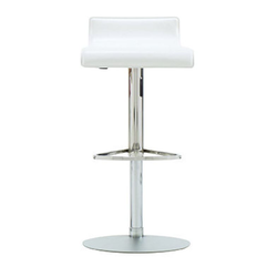 00czo stool white synderme leather Ligne Roset Pam