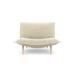 0015t small fireside chair with loose cover fixed back metal base Ligne Roset Calin