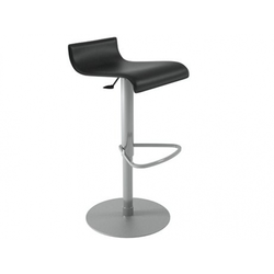 00czq stool black synderme leather Ligne Roset Pam