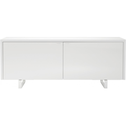 00ocd sideboard 2 doors lacquered base et handles gloss white lacquer Ligne Roset Coplan
