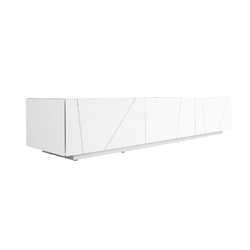 00hrf sideboard 2 drawers 1 flap door on plinth gloss white lacquer Ligne Roset Lines