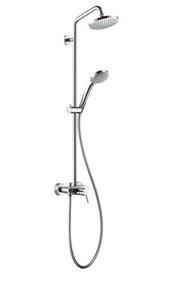 Showerpipe EcoSmart single lever mixer - Croma 100 Kollektion von Hansgrohe | Tilelook