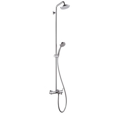 Croma 100 Showerpipe Single Lever mixer for bath tubs Hansgrohe Croma 100