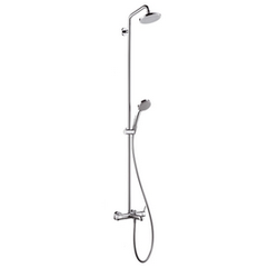 Croma 100 Showerpipe for bath tubs EcoSmart single lever mixer Hansgrohe Croma 100