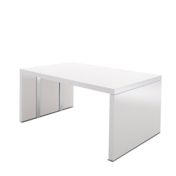 00e06 dining table with extension leaf gloss white lacquer Ligne Roset Cineline