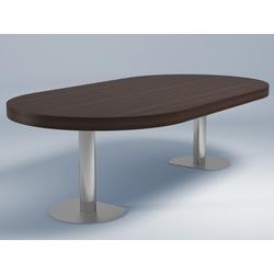 00nir dining table walnut chromed base Ligne Roset Craft 2