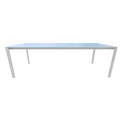 010m4 dining table top in metallic anthracite ceramic stoneware white lacquered base Ligne Roset Dehors