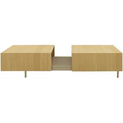 00wh7 low rectangular table natural finish sawn oak argile acquer Ligne Roset Dualist
