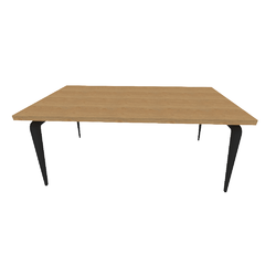 00wq2 dining table black lacquered base walnut top