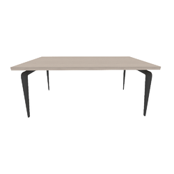 00ym1 dining table black lacquered base smoked oak effect top Ligne Roset Odessa