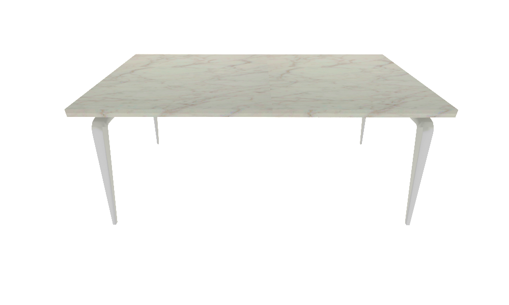 00ym3 dining table white lacquered base white ceramic stoneware top
