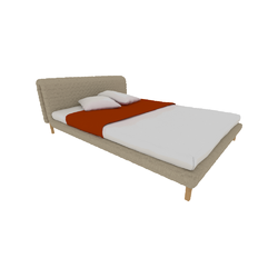 00p64 bed 140 x 200 low headboard low feet Ligne Roset Ruché