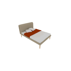00p65 bed 140 x 200 high headboard high feet Ligne Roset Ruché