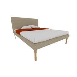00p65 bed 1524 x 2032 queen size high headboard high feet Ligne Roset Ruché