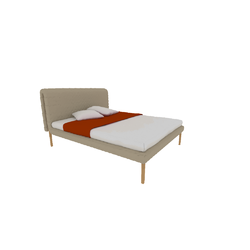 00p65 bed 160 x 200 high headboard high feet Ligne Roset Ruché