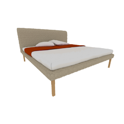 00p65 bed 19304 x 2032 king size high headboard high feet Ligne Roset Ruché