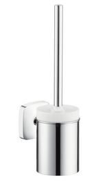 Toilet brush with ceramic holder - Kolekce PuraVida od Hansgrohe | Tilelook