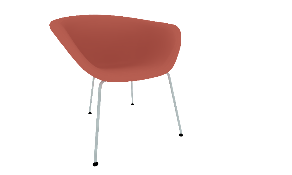 Brilliant Arper Duna02 Lounge 4Legs Upholstery Collection Duna 02 By Machost Co Dining Chair Design Ideas Machostcouk