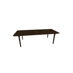 KENDO TAV.PRAN.260X100 H74 NOCE/PELTRO  Natuzzi Night & Day Furniture