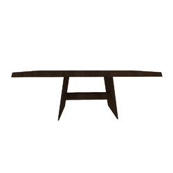 PHANTOM TAV.200X90 H74 NOCE-TRASPARENTE  Natuzzi Night & Day Furniture