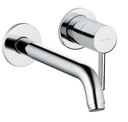 concealed two hole wall mounted basin mixer - Collezione Kludi Bozz di Kludi   Tilelook