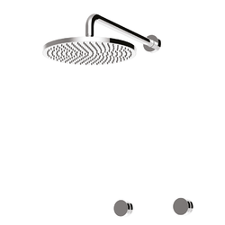 Concealed shower tap, brass shower head. Giulini Rubinetteria My Ring
