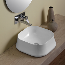 Square counter top wash basin cm 42.  Simas Sharp