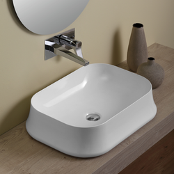 Rettangular counter top wash basin cm 60  Simas Sharp