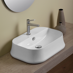 Rettangular counter top wash basin cm 60. Simas Sharp