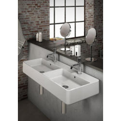 Tratto Double ceramic washbasin TRA4110101 Olympia Tratto