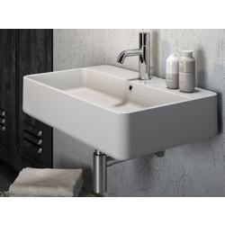 Tratto Wall-mounted ceramic washbasin TRA4165101 Olympia Tratto