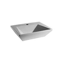 Wall hung washbasin 60 one tap hole CRY4360101 Olympia Crystal