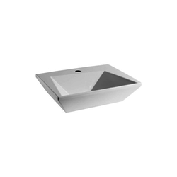 Wall hung washbasin 50 one tap hole CRY4350101  Olympia Crystal