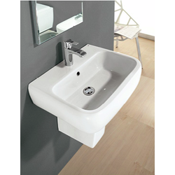 WASH BASIN 52 cm WITH HALF PEDESTAL Rak Ceramics Metropolitan