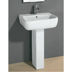 WASH BASIN 60 cm  WITH PEDESTAL  Rak Ceramics Metropolitan