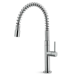 Single lever sink mixer with swivel round barrel and spring Newform Modo