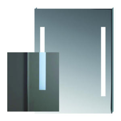 Mirror with the light integrated - Collection Clear by Jika | Tilelook