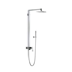 Shower pillar with exposed, single lever mixer and hand shower chrome Newform X-Sense