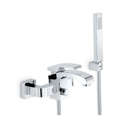 bath assembly with hand shower assembly chrome Newform X-Sense