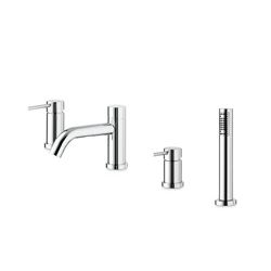 deck-mounted bath fittings chrome Newform X-Trend Kitchen