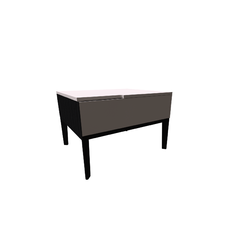 Mondrian Bedside Table Handle Dx 60X50 H40  Natuzzi Night & Day Furniture
