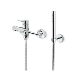 External bath mixer with stand fixed and flexible shower head Newform X-Trend Kitchen