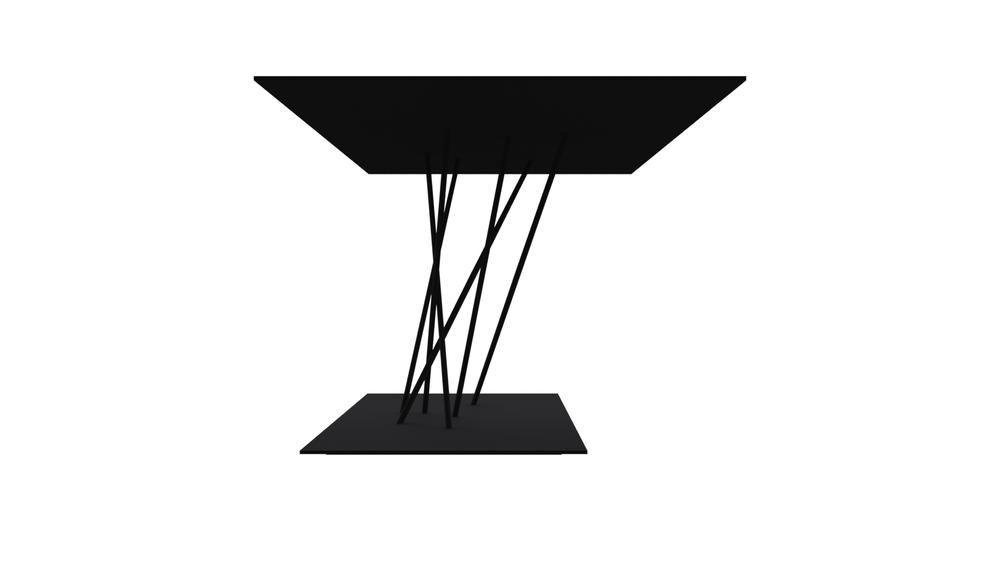 Labirinto corner table 60x60 h42 for Table 60x60 design