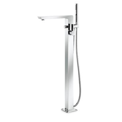 floor-mounted bath mixer chrome Newform Libera Kitchen