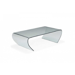 Apostrofo 121X60H35 Glass Transparent  Natuzzi Coffee Tables