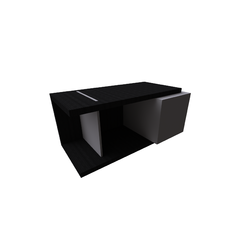 Kubika Left Side Table With Drawer 102X50H50 Natuzzi Coffee Tables