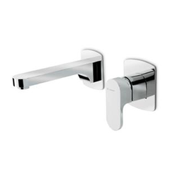 Group wall basin mixer Newform X-Light