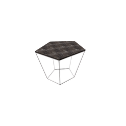 Chocolat Corner Table 45X50 H50 Travertinewhite/Pewter  Natuzzi Coffee Tables